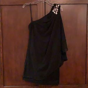 Black Knee Length Cocktail Dress
